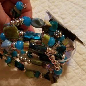 According multi color bracelet
